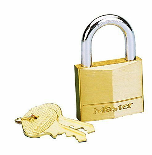 "Master Lock 140D Brass Padlock 9/16"" SB PADLOCK"