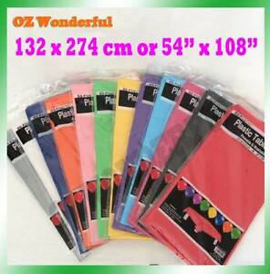 137x274cm Plastic Table Cloth Colour Rectangle Cover Epping Whittlesea Area Preview