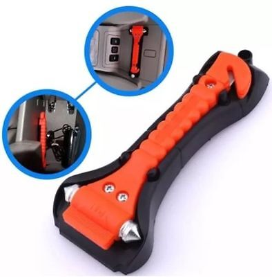 Car Van Escape Glass Window Breaker Emergency Hammer Holder Seat Belt Cutter UK