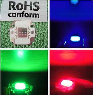 Free Ship 1pc 10w Rgb Tri-color Led 10 Watt Lamp Bright Light High Power 12v New