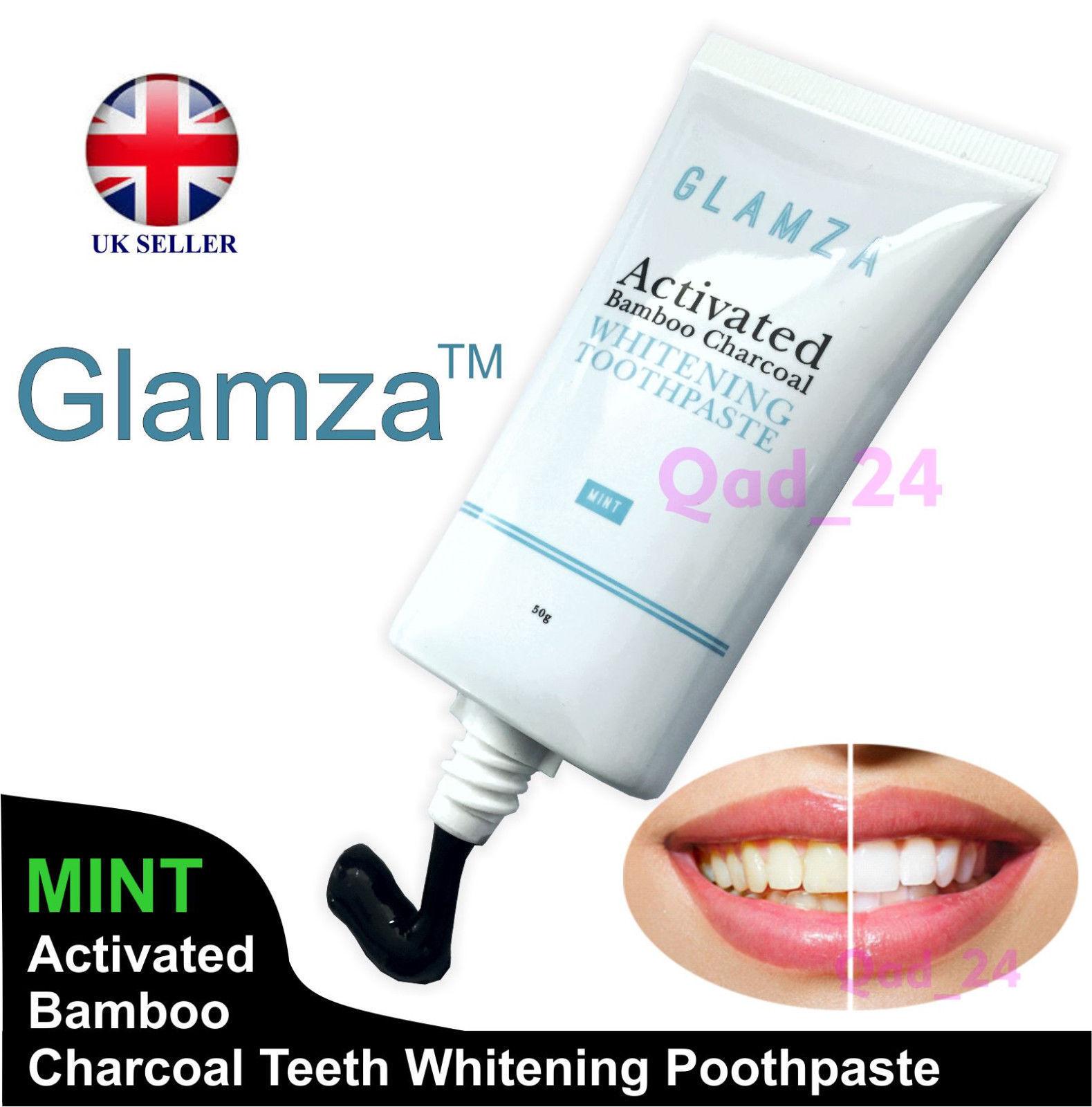 Aktivkohle Schwarz Natürlich Biologisch Zahnbleichung Zahnpasta UK Mundpflege