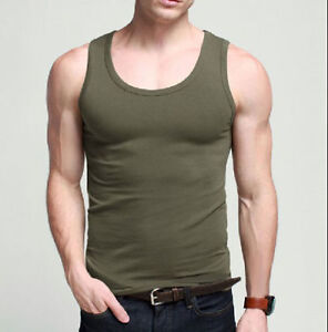 MENS VEST FITTED 100% COTTON GYM TRAINING TANK TOP T SHIRT MESH NEW SLEEVELESS
