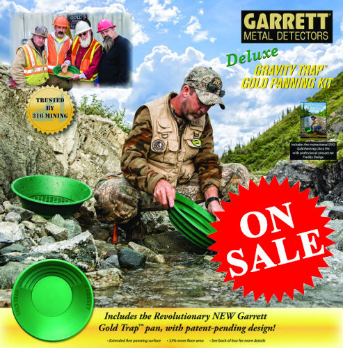 GARRETT METAL DETECTORS DELUXE GRAVITY TRAP GOLD PAN/PANNING KIT 316 MINING NEW!
