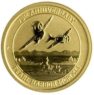 2016-P $15 Pearl Harbor Perth Mint 1/10 oz. .9999 Gold Coin W/COA