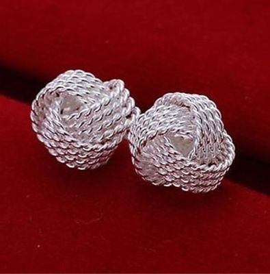 1/2 Diameter Stud - Nice New Silver Plated Rope Texture 1/2
