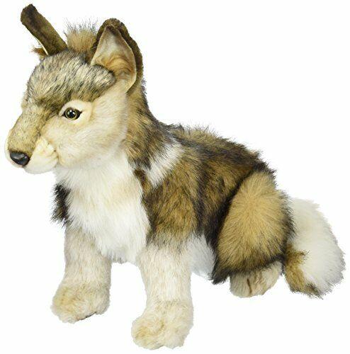 Hansa Seated Wolf Cub Plush