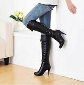 Black heeled Knee High Boots Size 5