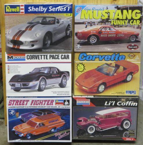 Model Car Kits Lot