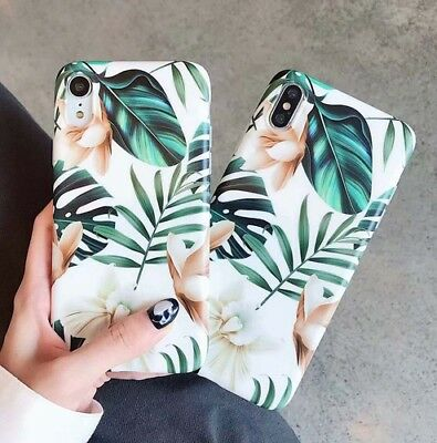 - Phone case for iphone iphone XS MAX XR X 8 7 6 plus Retro Flower Leaf soft Cover
