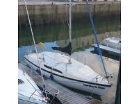 Yacht for sale. Macgregor 26c trailer sailor used yacht and trailer with added extras.