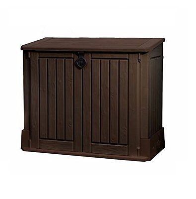 Keter Woodland Midi Store It Out Plastic Shed Garden Patio Brown Box Lockable