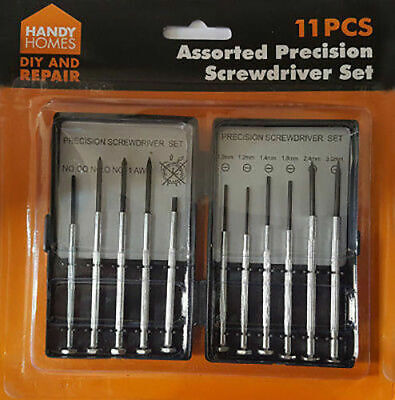 New 11 Pcs Mini Precision Screwdriver Set Jewelers Glasses Phone Repair Kit