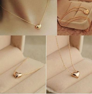 Jewellery - Fashion Women Gold Plated Heart Bib Statement Chain Pendant Necklace Jewelry