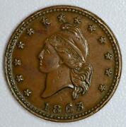 1863 Civil War Token Army Navy