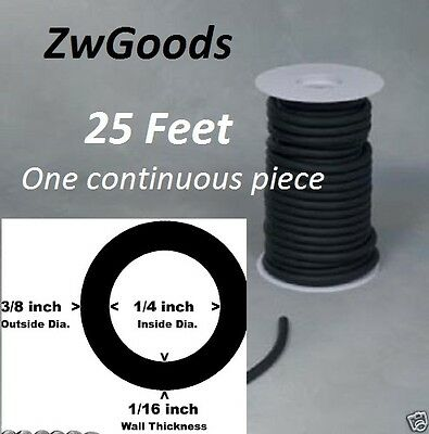 25 Continuous Feet 14 I.d X 116 Wall X 38 O.d Latex Tubing Black Rubber