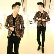 Men Animal Print Jacket