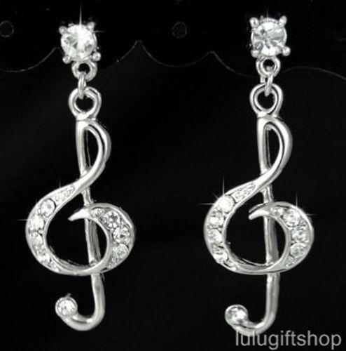 Music Note Earrings Ebay