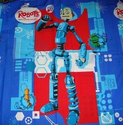 Used, Robots Cotton Fabric Wall hanging Quilt Top Panel Fabric for sale  Shipping to India