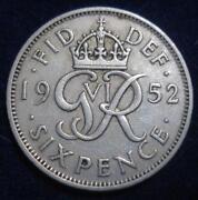 1952 Sixpence