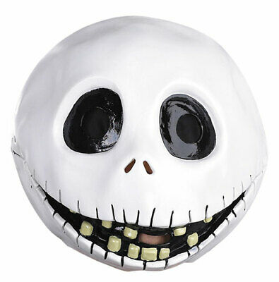 Jack Skellington Faces (Jack Skellington Full Face Vinyl Mask for)