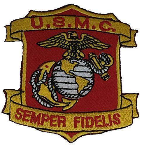 USMC SEMPER FIDELIS EAGLE GLOBE ANCHOR EGA PATCH MARINE CORPS VETERAN