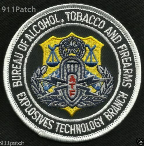 US ATF Bureau of Alcohol Tobacco Firearms Explosives Technology COLLECTOR patch