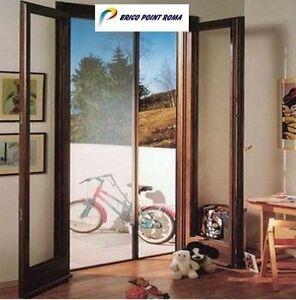 Zanzariera laterale universale a rullo a molla in kit for Zanzariera porta finestra