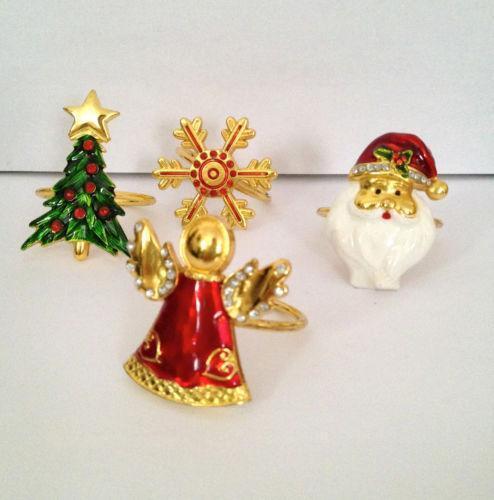 Christmas Tree Napkin Rings Ebay
