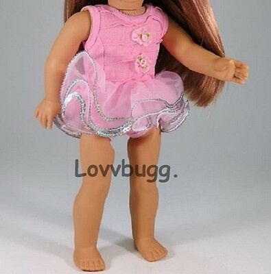 "Lovvbugg Ballet Leotard Ballerina  w Tutu for 18"" American Girl Doll Clothes"