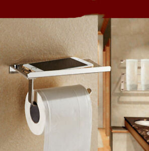 Phone Android iPhone Chrome Paper Holder Roll Shelf Toilet Tissu