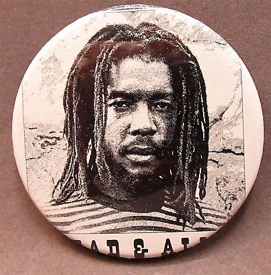 "1981 PETER TOSH WANTED DEAD OR ALIVE 2.25"" celluloid pinback button REGGAE"