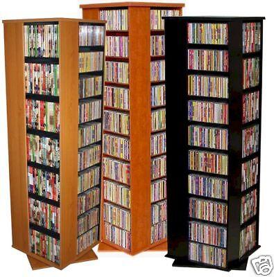 1160 CD 566 DVD Floor Spinner Storage Tower Rack - NEW