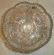 Cut Glass Crystal Bowl