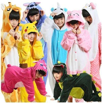 Hot sale kids Pajamas Kigurumi Unisex Cosplay Animal Costume Onesi1 sleepwear!
