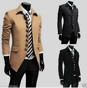 Mens Trench Coat Long Slim