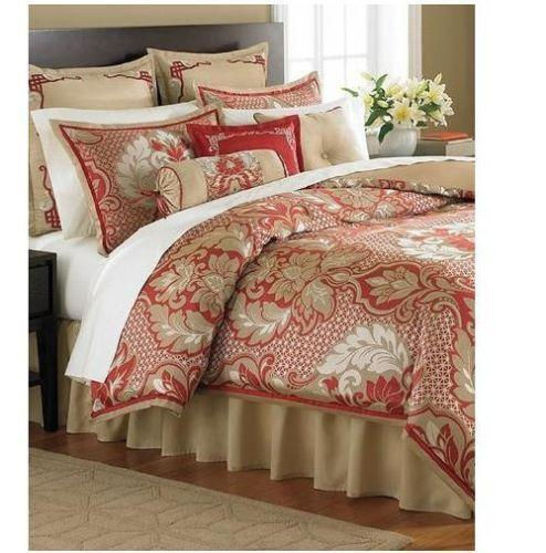 Red Gold Queen Comforter Ebay