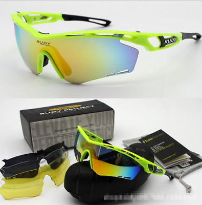 4 Pair Lens Men Rudy Project Polarized Uv Cycling Sunglasses Bicycle Glasses  Cc