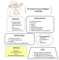 Personal Grocery Shopper Available!