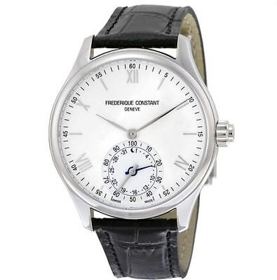 Men's Frederique Constant Horological Smart Watch FC-285S5B6 Black Leather Band
