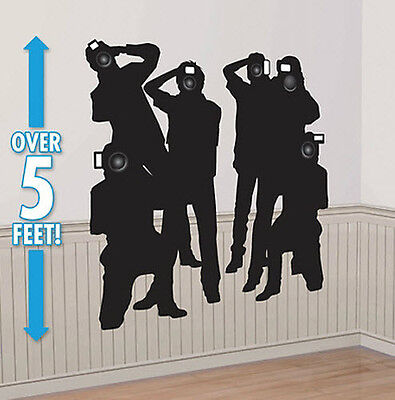 Hollywood Scene Setters (PAPARAZZI Scene Setter VIP Hollywood party wall decor kit 5' photographer)