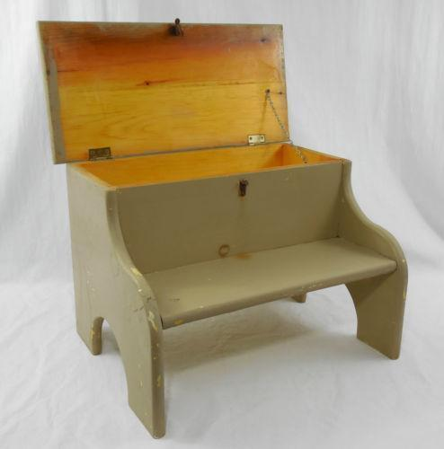 Vintage Wood Step Stool Ebay