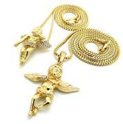 Gold Angel Wing Pendant