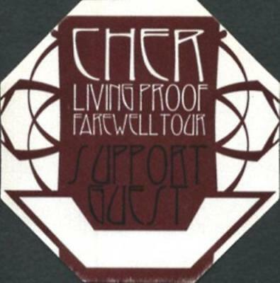 CHER 2002 LIVING PROOF FAREWELL TOUR GUEST BACKSTAGE PASS / NMT 2 MINT