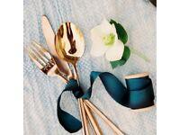 32 Piece Copper Cutlery Set