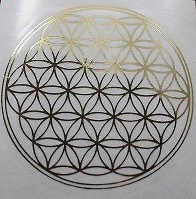 8 Aufkleber Blume des Lebens Fensterbild Heilige Geometrie 30 mm
