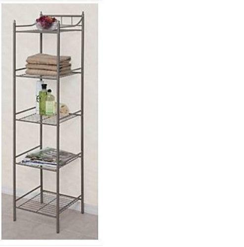 Beautiful Bathroom Metal Wire Wall Rack Shelving Display Shelf Industrial