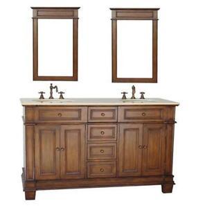 Double Sink Bathroom Vanity 60