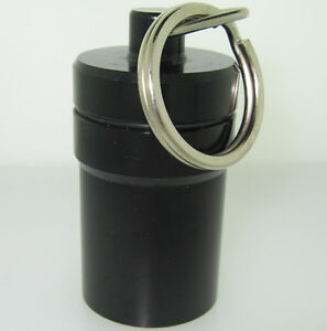 Large-Pill-Container-w-Key-Chain-BLACK
