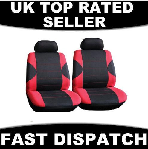 Universal Pair Front Car Van Seat Covers  Red