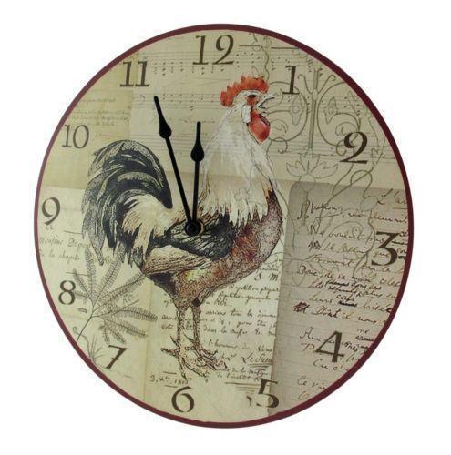 Rooster Clock Ebay